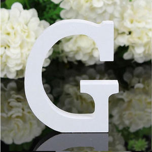 """LETTERA """"G"""" IN LEGNO BIANCO 12CM ALFABETO MATRIMONI COMPLEANNI DECORAZIONI FESTA"""