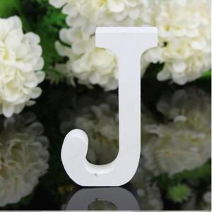 """LETTERA """"J"""" IN LEGNO BIANCO 12CM ALFABETO MATRIMONI COMPLEANNI DECORAZIONI FESTA"""