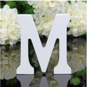 """LETTERA """"M"""" IN LEGNO BIANCO 12CM ALFABETO MATRIMONI COMPLEANNI DECORAZIONI FESTA"""