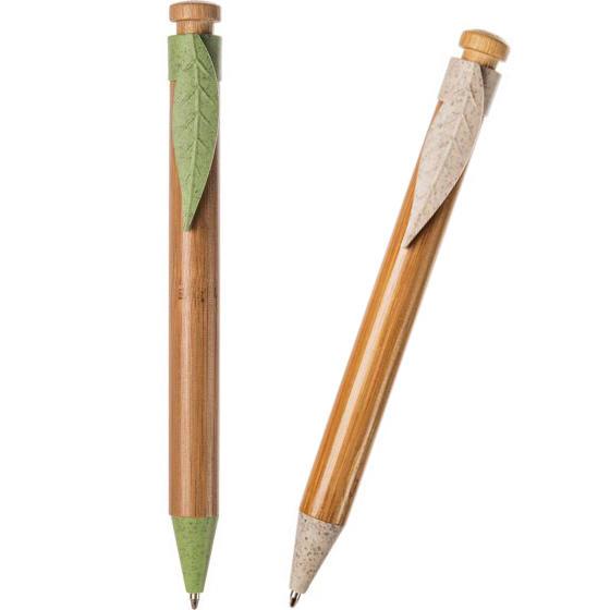 Penna Legno Bambù e Paglia di Grano Personalizzata B11129 da 100 pz