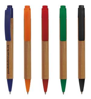 Penna Legno Bambù Personalizzata B11073 da 100 pz