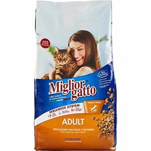 2X MANGIME per Gatti MIGLIORGATTO CROCCANTINI Adult Pollo E Tacchino Sacco da 1,5 kg Cibo Secco