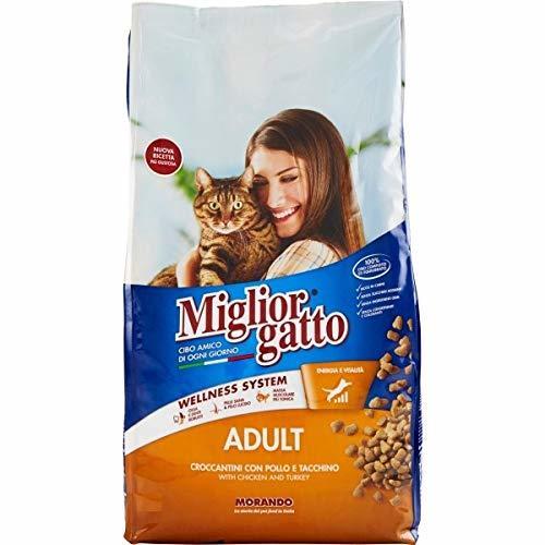 3X MANGIME per Gatti MIGLIORGATTO CROCCANTINI Adult Pollo E Tacchino Sacco da 1,5 kg Cibo Secco