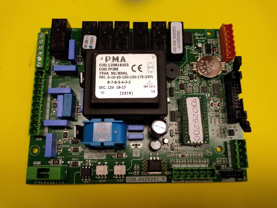 SCHEDA ELETTRONICA STUFE PALAZZETTI cod CHIP 002520104