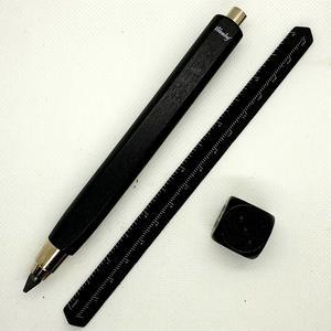 Confezione regalo in metallo matitona triangolare lunga nera