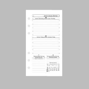 RICAMBIO ORGANIZER AGENDA SETTIMANALE MEDIUM 9,5X17 BIANCO