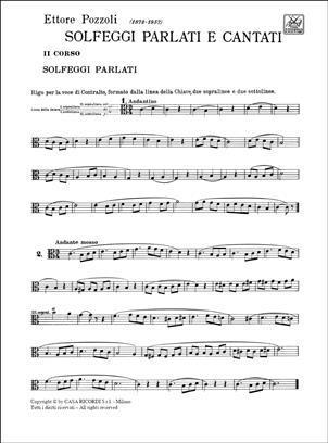 Pozzoli - Solfeggi Parlati E Cantati 2° Corso