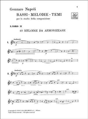 Napoli - Bassi Melodie Temi Per Lo Studio Della Composizione - libro 2