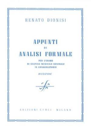 Dionisi - Appunti Di Analisi Formale