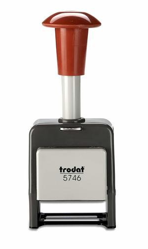 Timbro numeratore automatico 5746/P plastica - 6 colonne CARATTERI 4,5 mm
