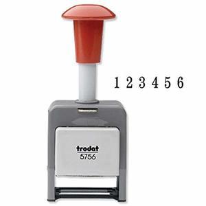 Timbro automatico 5756/P plastica - 6 colonne CARATTERI 5,5 mm