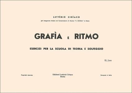 Ciriaco - Grafia E Ritmo 3 Corso