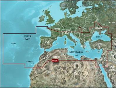 Cartografia Nautica Garmin Bluechart G3 HD Vision Europa Meridionale - Offerta di Mondo Nautica 24