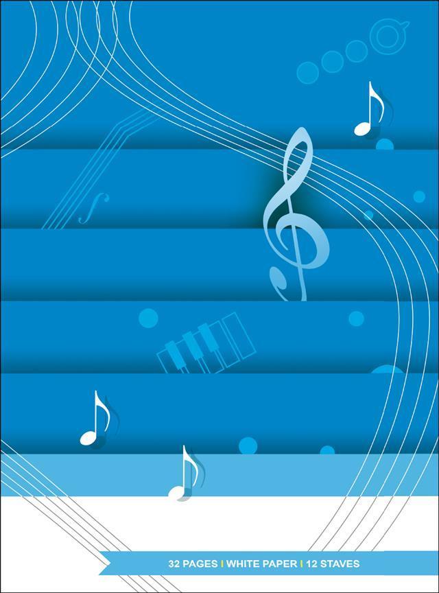 Quaderno di Musica 12 righi - 32 pagine bianche