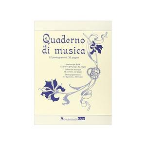 Quaderno di Musica 12 righi - 32 pagine Avorio