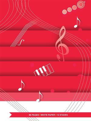 Quaderno di Musica 12 righi - 96 pagine bianche