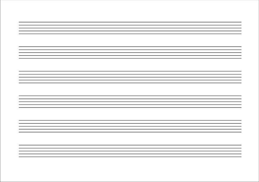 Quaderno di Musica 6 righi - 32 pagine Avorio