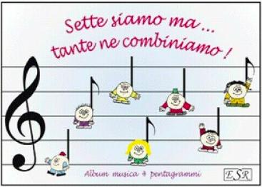 Quaderno di Musica 4 righi grandi per bambini
