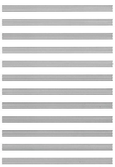 4 Fogli musicali colore avorio