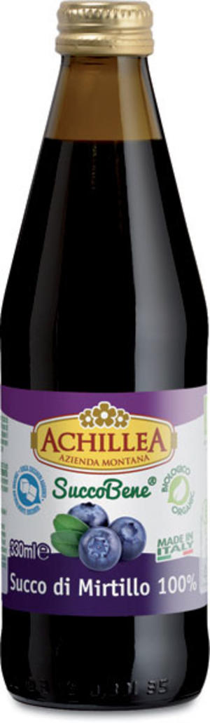 Succo puro mirtillo, Achillea, 330 ml