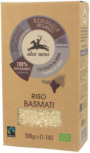 Riso basmati fair trade, Alce nero fairtrade, 500 gr