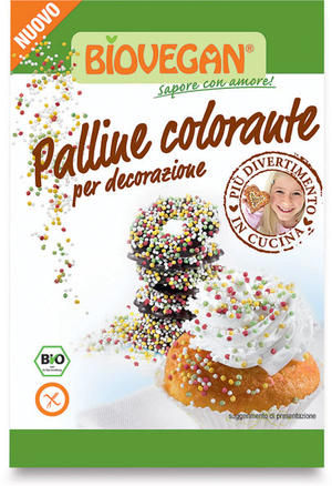 Palline colorate per decorazione, Bio vegan, 35 gr