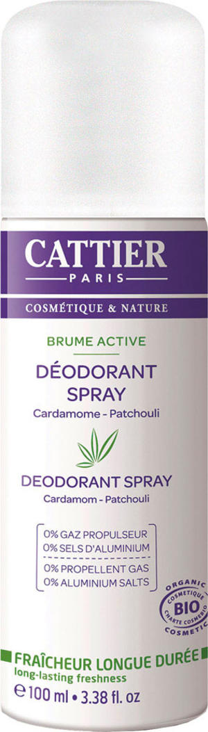 Deodorante spray 0% gas - 0% sali di alluminio, Cattier, 130 gr