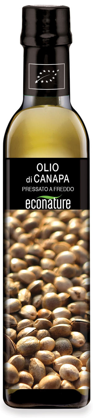 Olio di semi di canapa, Eco nature, 250 ml