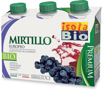 Premium mirtillo, Isola bio, 3x200 ml