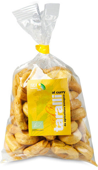 Taralli al curry, Isola coop. soc., 250 gr