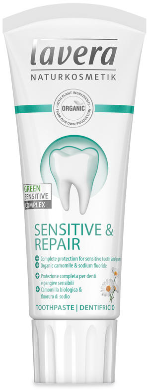 Dentifricio sensitive & repair, Lavera, 75 ml