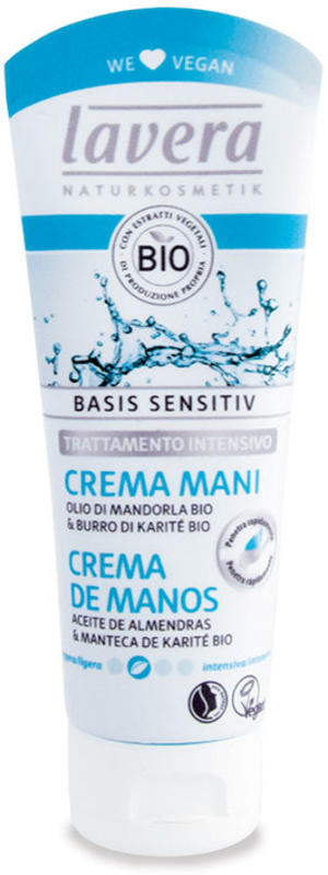 Basis sensitiv - crema mani - trattamento intensivo, Lavera, 75 ml
