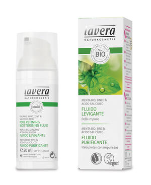 Faces menta - fluido levigante, Lavera, 50 ml