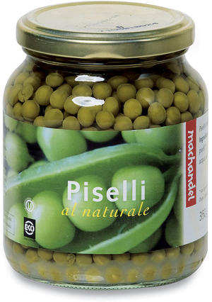 Piselli al naturale, Machandel, 350 gr