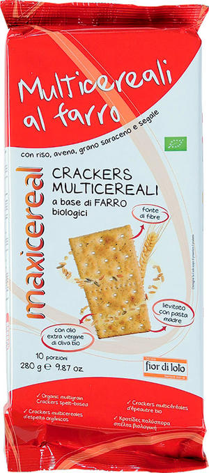 Crackers multicereali, Maxicereal, 280 gr