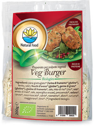 Veg burger - preparato per polpette vegetali, Natural food, 200 gr
