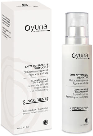 8 ingredients - latte detergente viso occhi, Oyuna, 150 ml