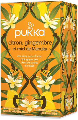 Lemon, ginger & manuka honey, Pukka, 40 gr