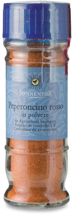 Peperoncino rosso in polvere in vaso, Sonnentor, 40 gr
