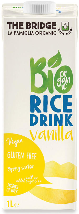 Bio rice drink vaniglia, The bridge, 1 L