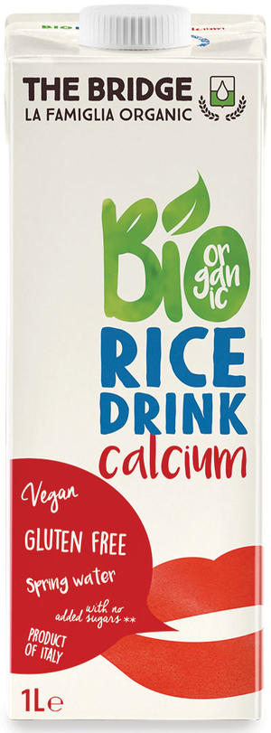 Bio rice drink con calcio, The bridge, 1 L
