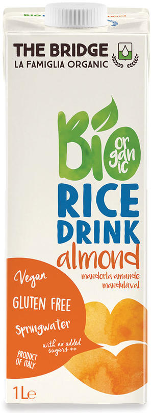 Bio rice drink mandorla, The bridge, 1 L