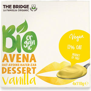 Bio avena dessert vaniglia, The bridge, 4x110 gr