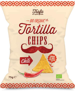 Bio tortillas chili, Tra'fo, 75 gr