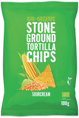 Bio tortillas chips - sourcream, Tra'fo, 100 gr