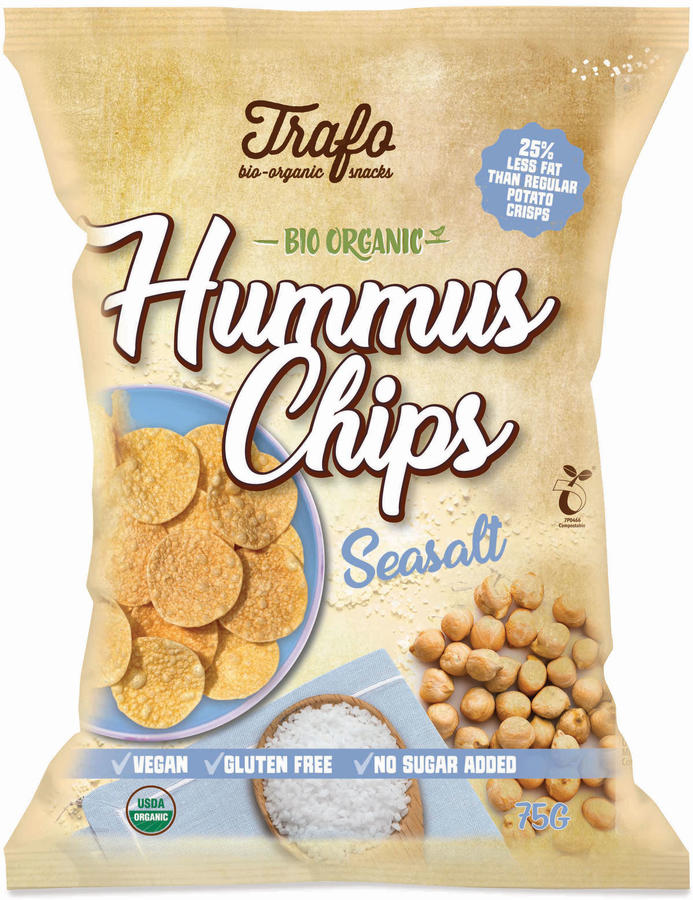 Hummus chips - gusto classico, Tra'fo, 75 gr