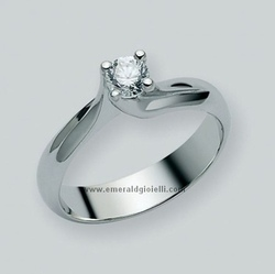 LID1335-D20V Anello Miluna Solitario con Diamante