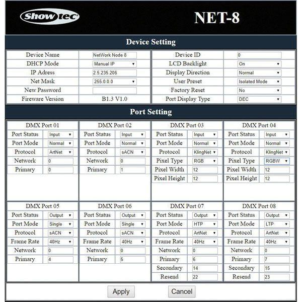 SHOWTEC - NET-8/5