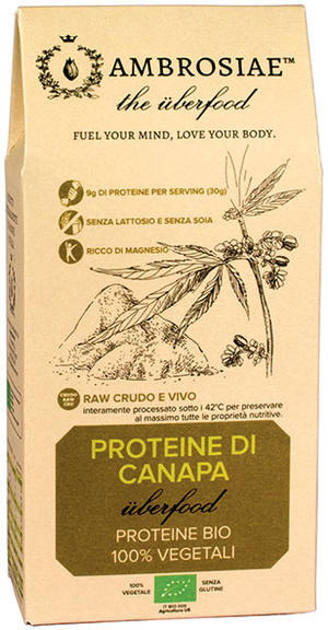 Uberfood proteine di canapa, Ambrosiae, 200 gr