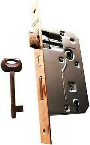 Serratura porte in legno ''patent'' frontale bordo tondo bonaiti e50 bronzata